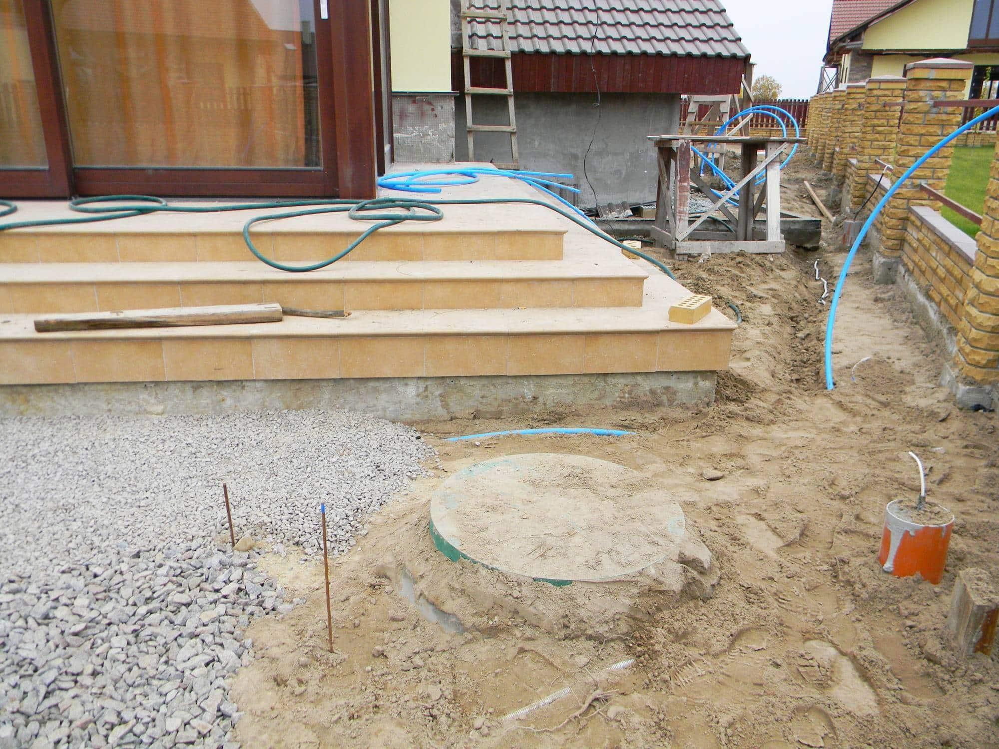 Travaux d'assainissement construction maison